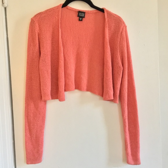 d3bfb4c0694 Eileen Fisher Sweaters | Cropped Silk Pink Sweater | Poshmark
